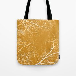 Branches Impressions on Yellow Tote Bag