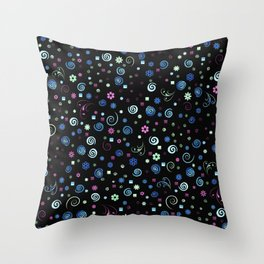 Groovy Baby Blues Throw Pillow
