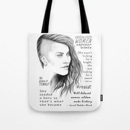 Feminist Quote Art Empowered Women Tote Bag