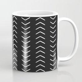 african mudcloth black chevron arrows Coffee Mug