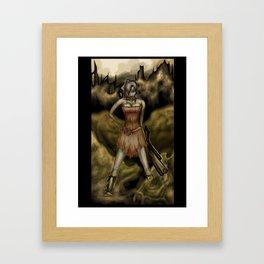 The Girl with a Big Gun Framed Art Print