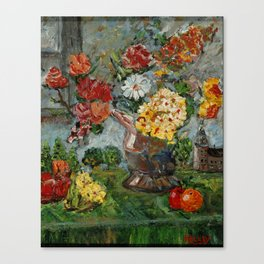Flowers,  Fruit and a Cathedral Canvas Print