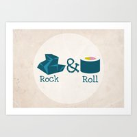rock and roll Art Prints featuring Rock&Roll by Natalia Ogneva