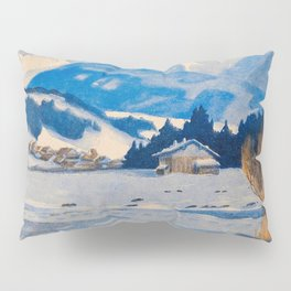 Jugend-Munich illustrated weekly for art and life - 1906 Cold Climate Snow Mountains Fox Pillow Sham