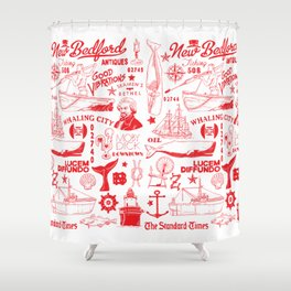 New Bedford Massachusetts Print Shower Curtain