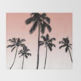 Sunset palms Throw Blanket