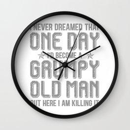Grumpy Old Man Killing It Wall Clock