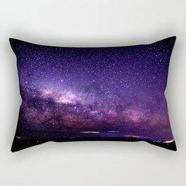 Purple Blue Milky Way Landscape Rectangular Pillow