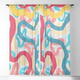 LUCYD Big Gay Energy Abstract Design Sheer Curtain