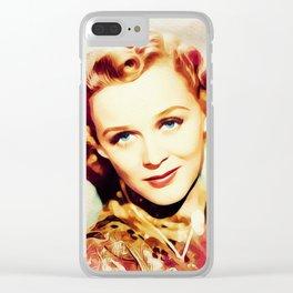 Gloria Stuart, Vintage Actress Clear iPhone Case