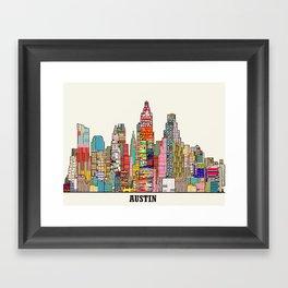 Austin texas Framed Art Print