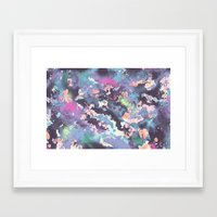 celestial Framed Art Prints featuring Celestial by Wendy Ding: Illustration