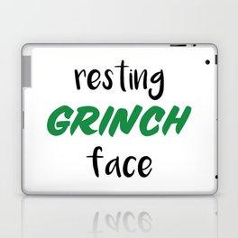 Resting Grinch Face Laptop & iPad Skin