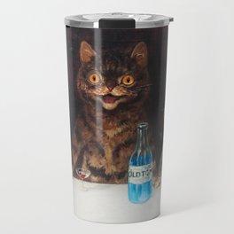 Old Tom Cat Bachelor Party Humorous Cat Print Travel Mug