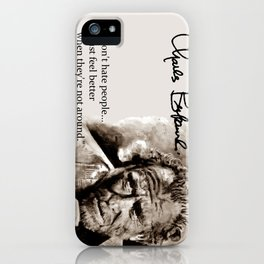 BUKOWSKI - people QUOTE #2 - sepia iPhone Case