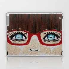 The Girl With The Red Glasses Laptop & iPad Skin