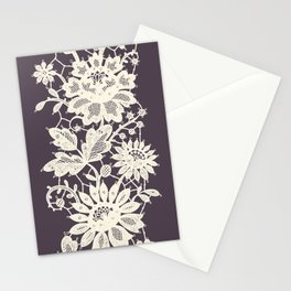 Lace Vertical Seamless Pattern. Stationery Cards