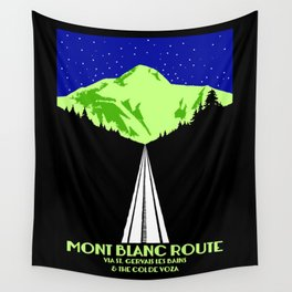 Mont Blanc Alps railway route Wall Tapestry