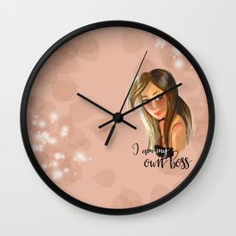 I am my own boss Wall Clock