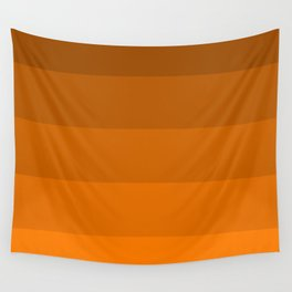 Orange Brown Stripes Wall Tapestry