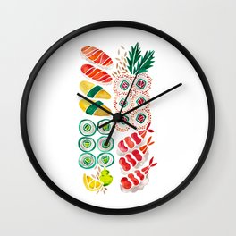 Sushi Collection Wall Clock