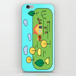 House and trees case iPhone Skin