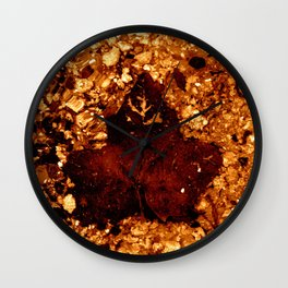 Stars On Ember Leave Wall Clock