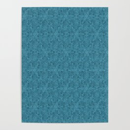 Moroccan Teal Arabesque Poster