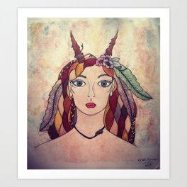 Lady of the Wood Art Print