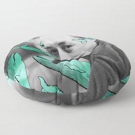 Albert Camus with calm whales Floor Pillow