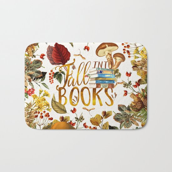Fall Into Books Bath Mat