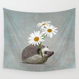 Hedgehog in love Wall Tapestry