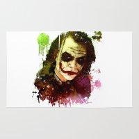 joker Area & Throw Rugs featuring Joker by Sirenphotos