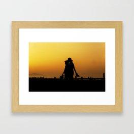 The day is gone Framed Art Print