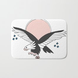 Eagle of the free and the brave Bath Mat