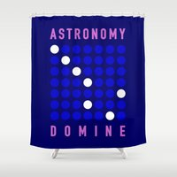 astronomy Shower Curtains featuring ASTRONOMY DOMINE by Fab&Sab