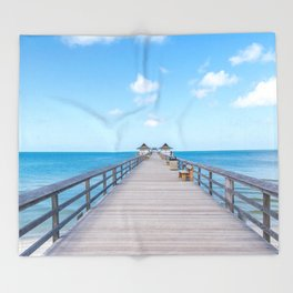 On the Pier Throw Blanket