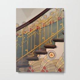 Art Nouveau spiral staircase Metal Print