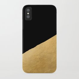 Black and gold abstract geometry (1) iPhone Case
