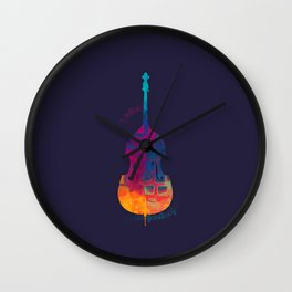 Double Bass Color Wall Clock