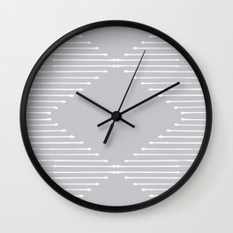 Geo (Linen Gray) Wall Clock