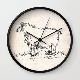 Let it sheep Wall Clock