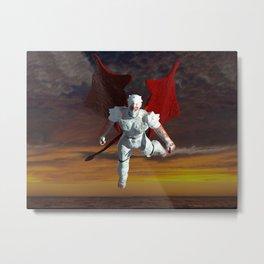 White Soldier Metal Print