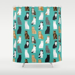 Cat lover must have gifts for cat ladies cat men kitty cats Shower Curtain