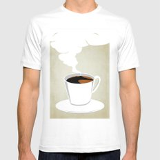 Neapoletan Breakfast Mens Fitted Tee MEDIUM White