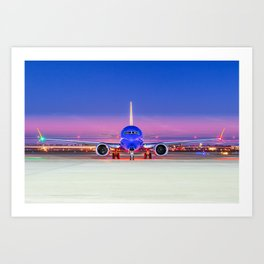 Face to face with a Boeing 737 Max 8 Art Print