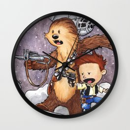 The Boys Calvin and Chewie Wall Clock