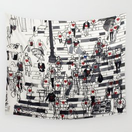 Hearts on the Move Wall Tapestry