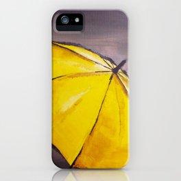 Yellow umbrella 2 iPhone Case