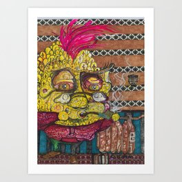 The Whimsical Pineapple Art Print